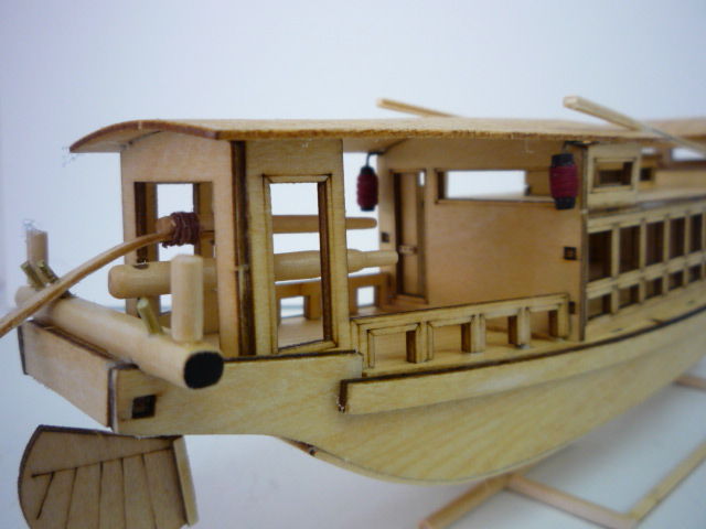 "Abri bateau traditionnel Asia (""300mm"" 1/50) bois P1080751"