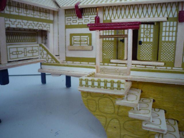 """Maison traditionnelle pieds dans l'eau """"Xiangxi"""" en contre-plaqué P1080755"""