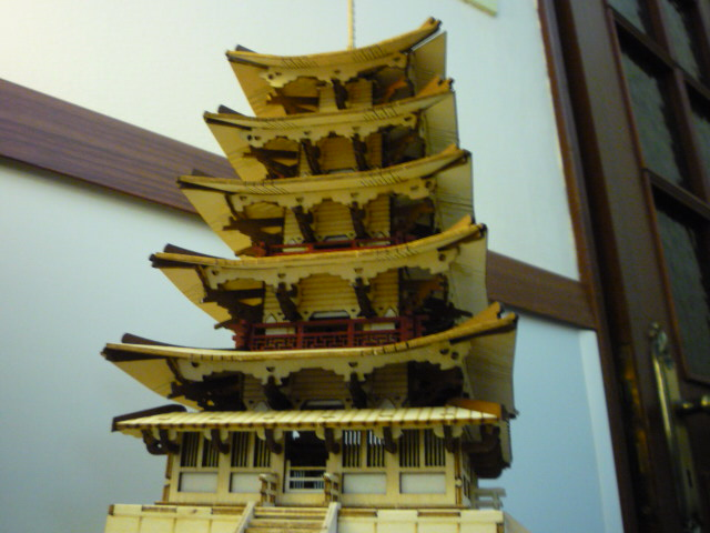 Temple-Pagode HORYU-JI (Nara) Japon (madeira) P1080811