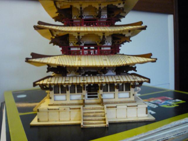 Temple-Pagode HORYU-JI (Nara) Japon (madeira) P1080813