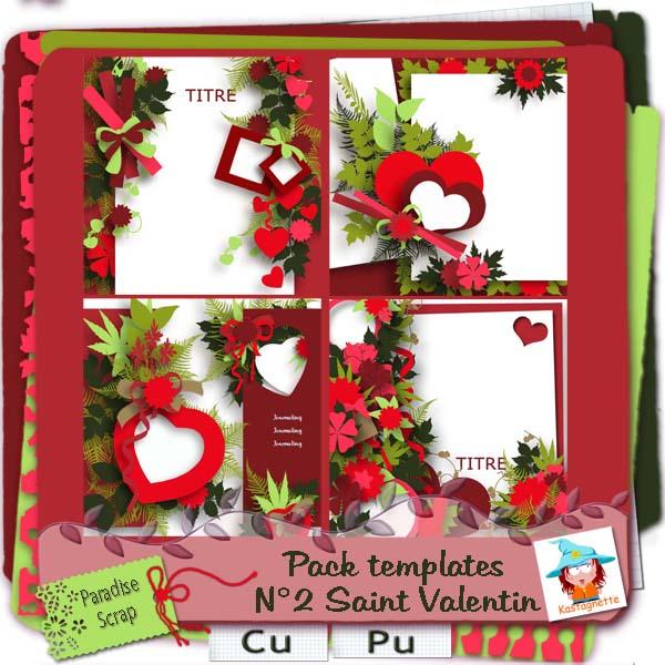 Templates pack 2 spécial Saint Valentin Kastag26