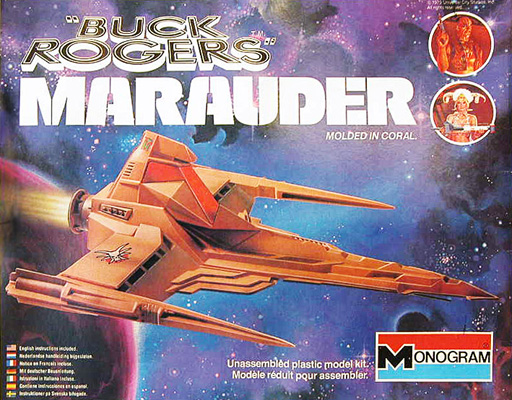 CERCO BUCK ROGERS MODEL KIT by MONOGRAM : STAR FIGHTER & DRACONIAN MARAUDER Buckro10