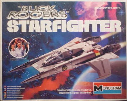 CERCO BUCK ROGERS MODEL KIT by MONOGRAM : STAR FIGHTER & DRACONIAN MARAUDER Starfi10