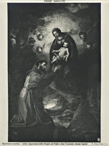 Aparición de la Virgen a  S. Francisco de Asis / Nª Sª de Loreto - s. XVII 2n027t10