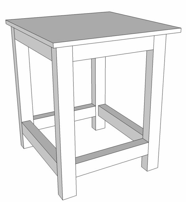 meuble support pour perceuse d'atelier Bati11