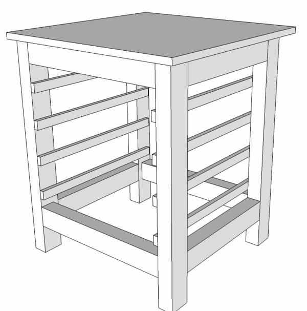 meuble support pour perceuse d'atelier Batisu11