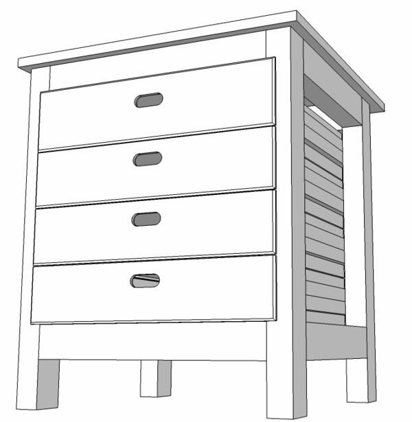 meuble support pour perceuse d'atelier Meuble13