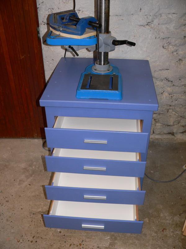 meuble support pour perceuse d'atelier - Page 6 Tiroir14