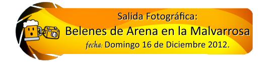 16 de Diciembre 2012: Belenes de Arena en la Playa de la Malvarrosa. Salida10