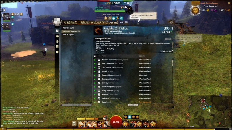 Pictures of Guild Even on 1 - 11 - 13 Gw12910