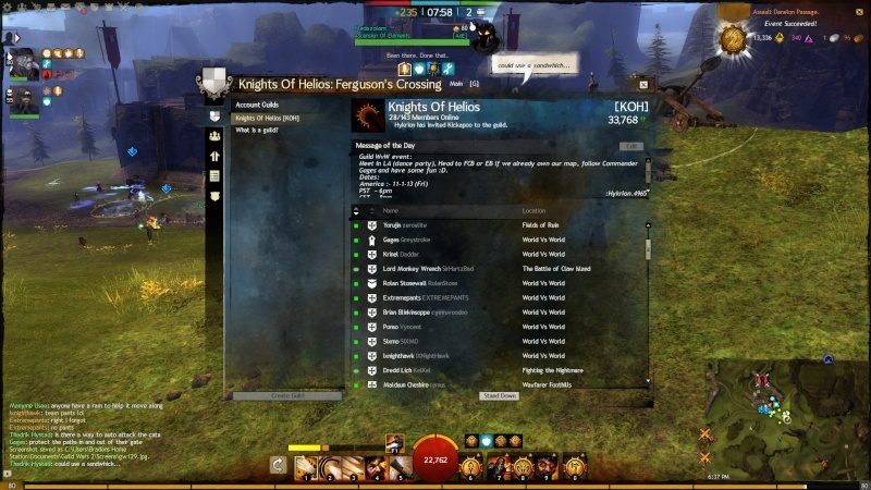 Pictures of Guild Even on 1 - 11 - 13 Gw13010