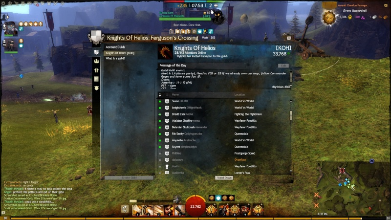 Pictures of Guild Even on 1 - 11 - 13 Gw13111