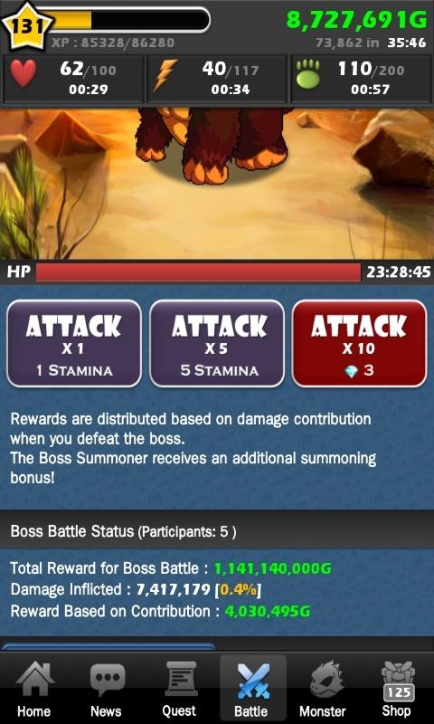 [Rendement] Rewards des Summon Boss Sc201318