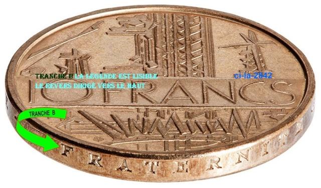 Des monnaies dites tranche A et d'autre tranche B 10_fra14