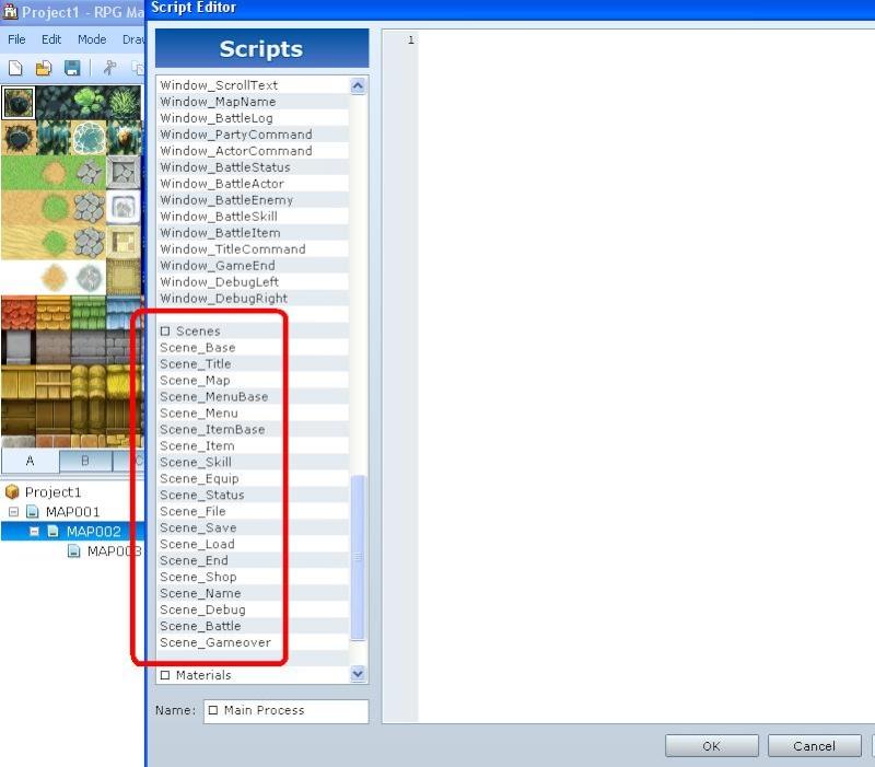 Comment insérer des scripts sous RmvxA T811