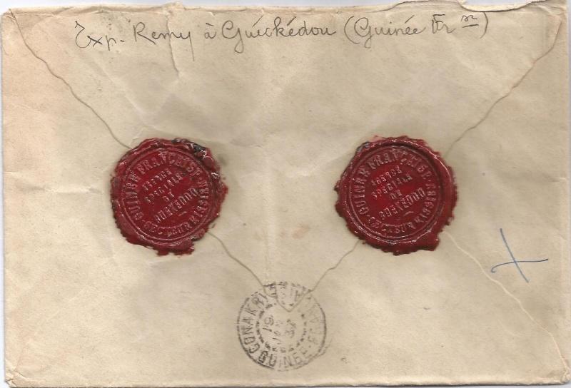 Lettre de Guinée - avec cachets de cire Scan0013