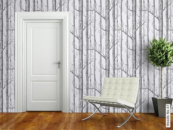"""Inspiration déco: série tv, """"forêt de bouleau"""", baroque noir&blanc, papier peint 5papie10"""