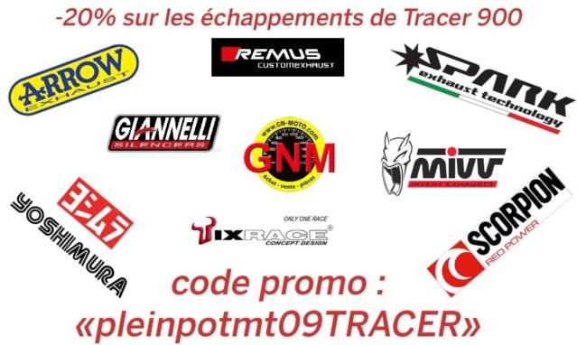 Promo -20% sur les Echappements pour MT 09 TRACER chez GN Motos Caecf911