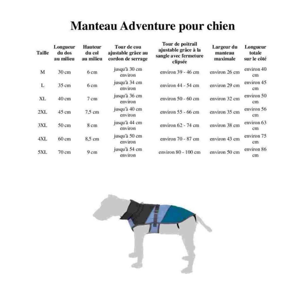Manteau pour chien : Adventure avec pochette rangement Advent10