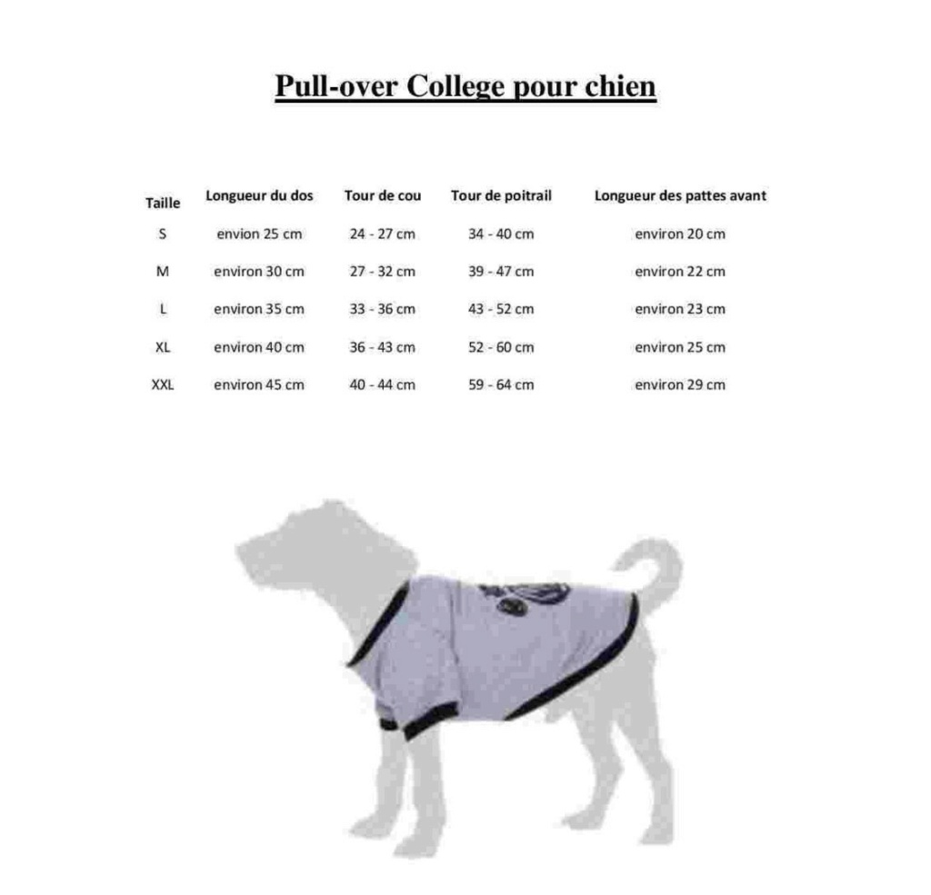 Pull-over pour chien : College  Colleg10