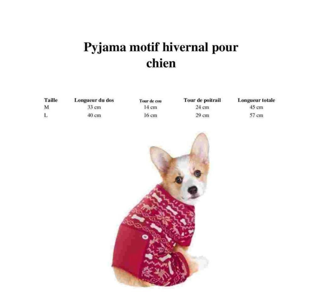 Pyjama pour chien : Norvegien à motif hivernal Pyj10