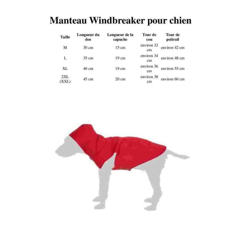 Manteau pour chien : Windbreaker Wind10