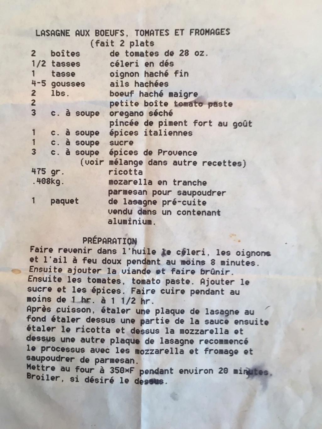 Recette de lasagne demandée! Recett10