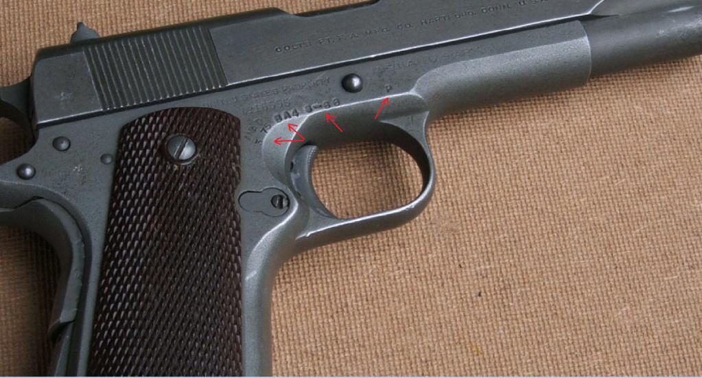 Marquages supplémentaires sur un Colt 1911 M1 Marqua10