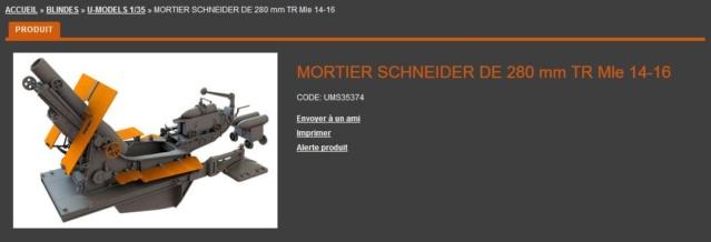 Mortier Schneider de 280mm TR Mle 14, 1/35e U-Model U-mode10