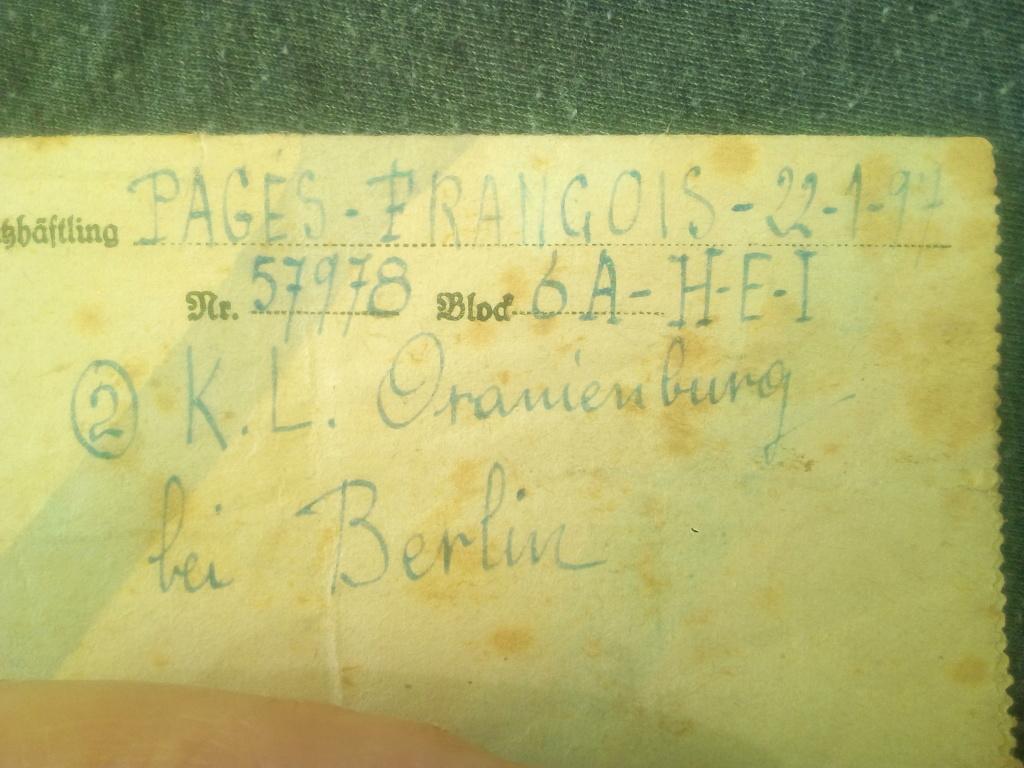 Du stalag 122 de Compiègne au camp de concentration de Sachsenhausen... Img_2155