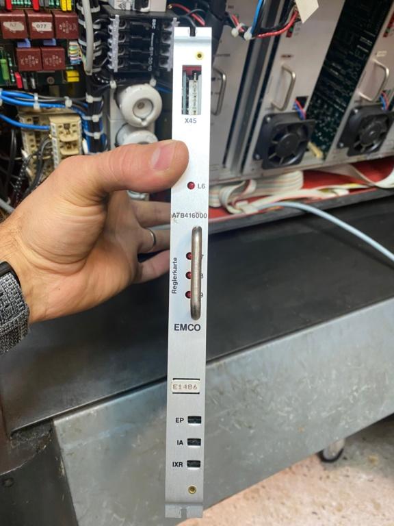 EMCO TURN 120P  panneau de commandes qui a fumé  Img_9014