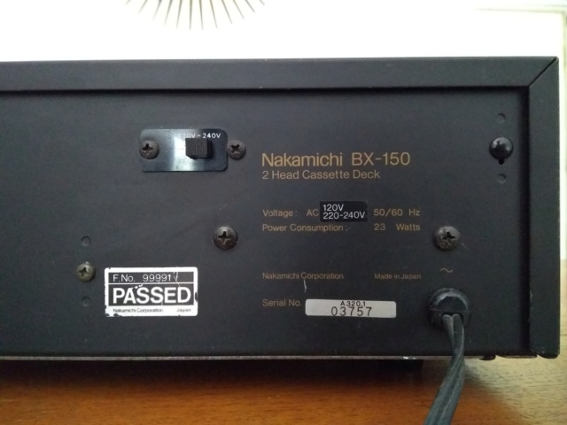 Nakamichi BX-150 tape deck (Made in Japan) Img_2014