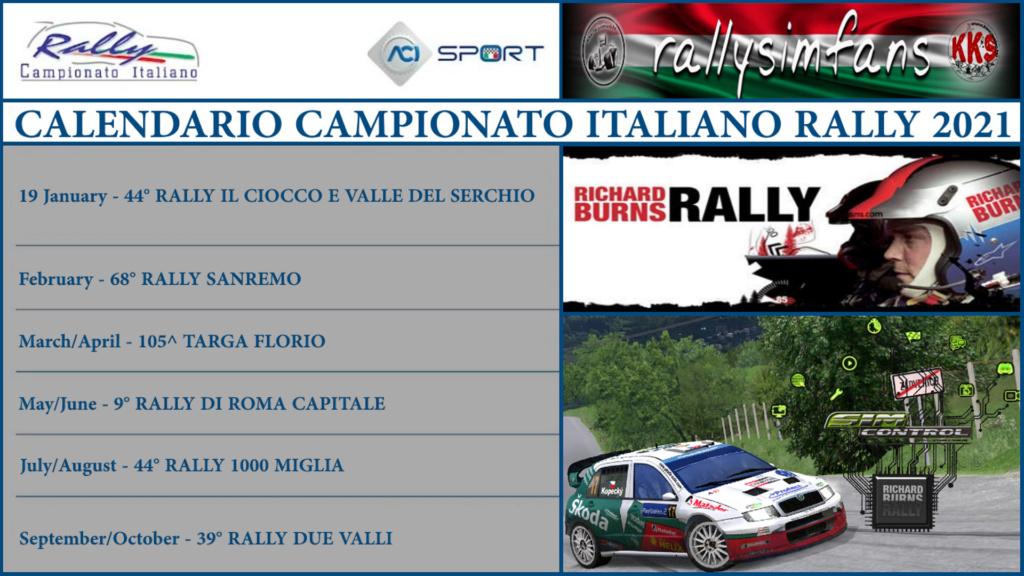 Italian Rally Championship 2021 (Rallysimfans.hu) Calend15