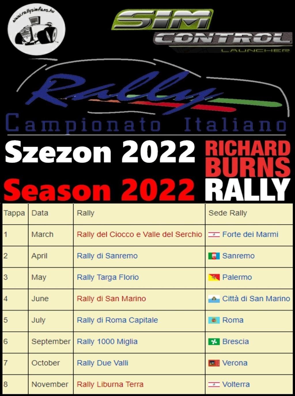 Italian Rally Championship 2022 (Rallysimfans.hu) Season11