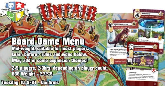 Tuesday 10th August - Uni Arms Menu10