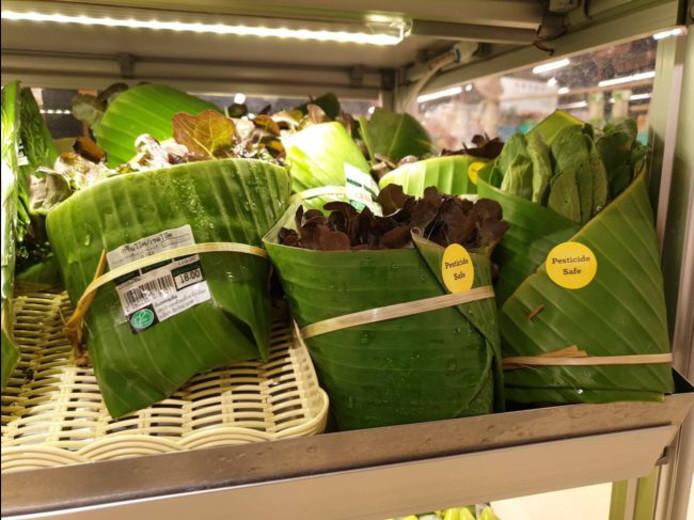Des feuilles de bananier pour remplacer les emballages en plastique Images13