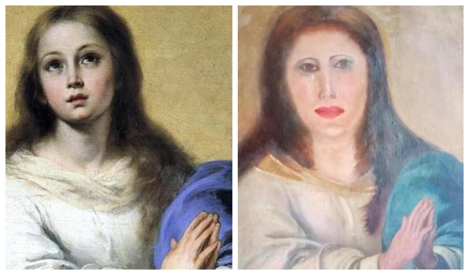 La restauration d'une œuvre d'art tourne (une fois de plus) au fiasco en Espagne Images42