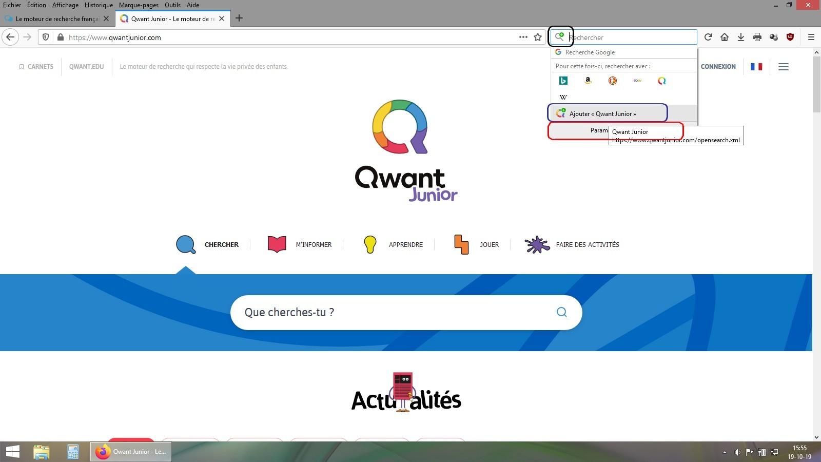 Le moteur de recherche français Qwant lance une nouvelle version de sa déclinaison dédiée aux enfants, Qwant Junior Sans_t21