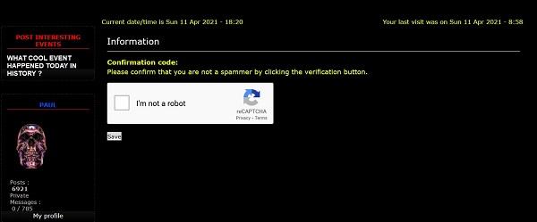 Sudden CAPCHA Antispammer Screen13