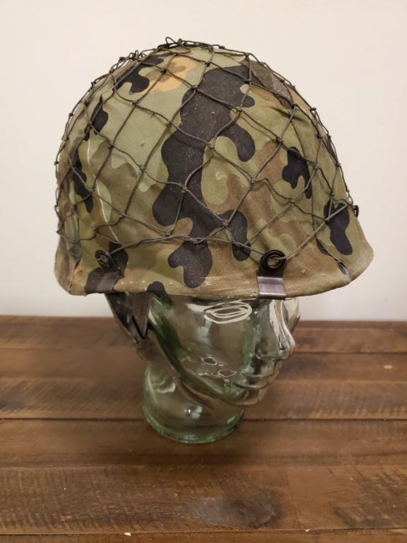 West German Para Helmet with Amoebatarn Cover 20200312