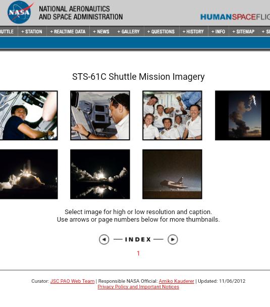 Dénomination des missions de la navette spatiale de 1984 à 1986 2018-010