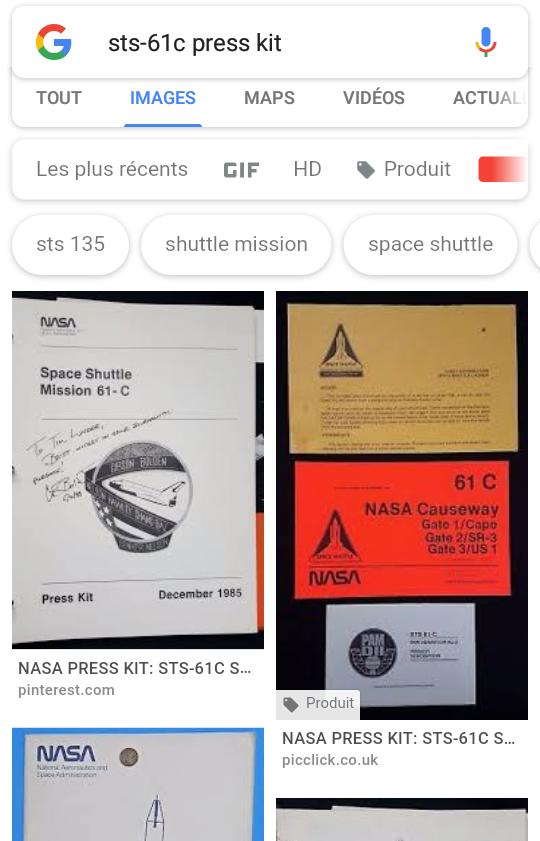 Dénomination des missions de la navette spatiale de 1984 à 1986 2018-014