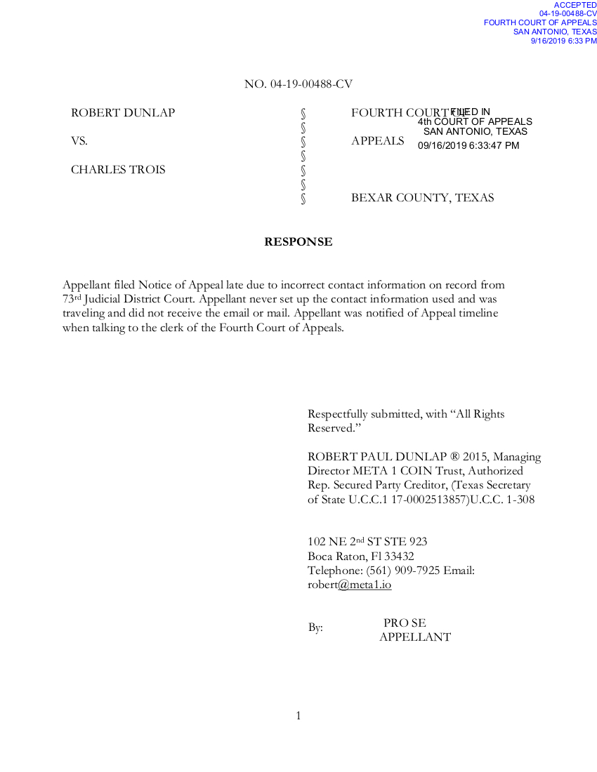 Meta 1 Coin - Legal troubles - Appeal Court Documents 0b611