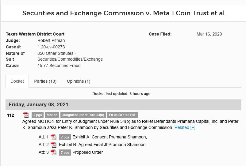 Dave Schmidt (Meta 1 Coin Scam) Final Judgement Pending Praman10