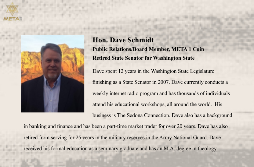 Dave Schmidt new scam - Meta1 Coin Scree415
