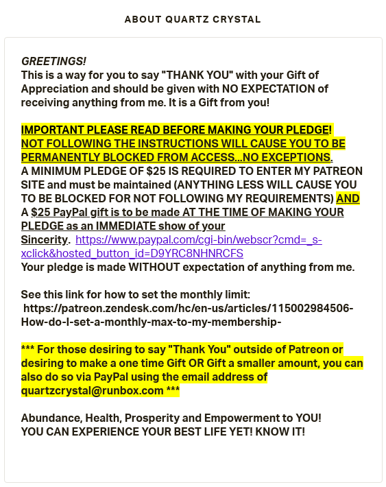 SCAMMER ALERT! - Judy aka Quartz Crystal the Source Player is PLAYING You for DONATIONS! - PLUS A CULT MEMBER CONVERSATION - Page 2 Scree433