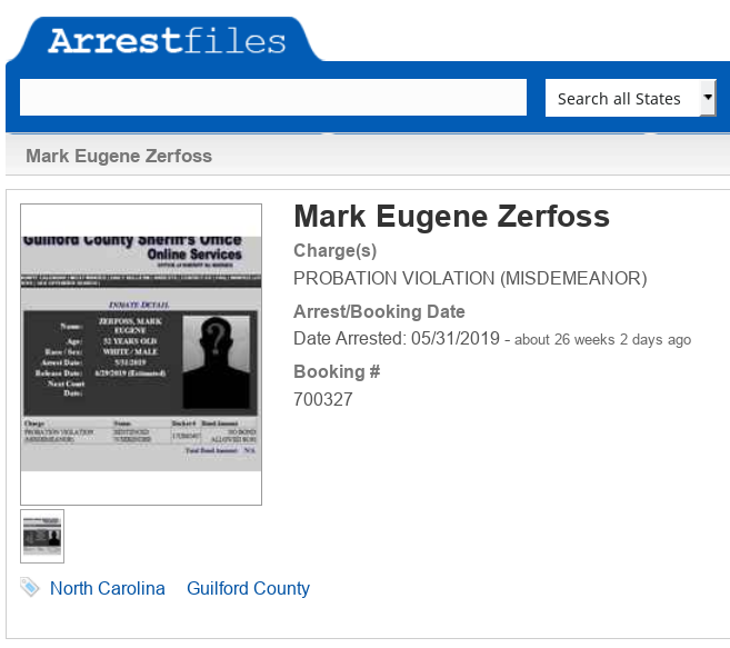 Mark Zerfoss (aka MarkZ) Intel On The Arrests Scree457