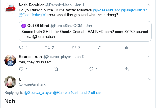 SourceTruth SHILL for Quartz Crystal - BANNED Scree496