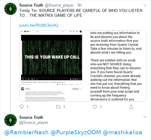 """Sourcetruth """"The Twitter Stalker"""" Proves The Matrix Cult Is A Scam! Scree510"""