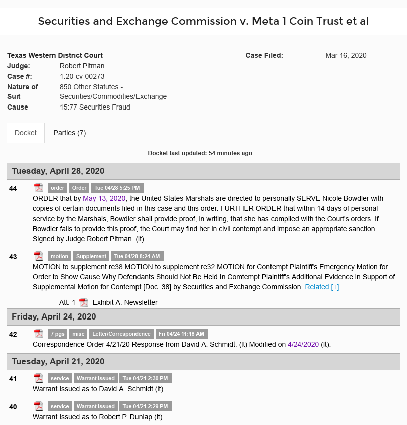 """Dave Schmidt (Meta 1 Coin) A """"Health and Welfare"""" Check-up? Scree545"""